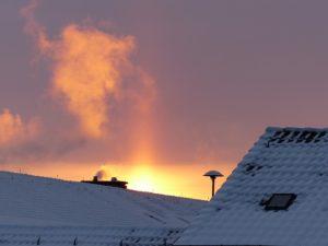 Sonnenuntergang Fenster