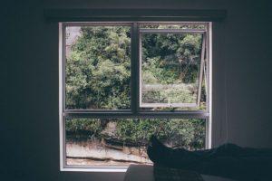 angekipptes Fenster
