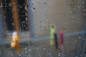 Regen Terrasse